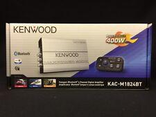 KENWOOD KAC-M1824BT 4-CHANNEL BLUETOOTH BOAT MARINE MOTORCYCLE TINY AMPLIFIER