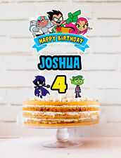 TEEN TITANS GO PERSONALISED CUSTOM CAKE TOPPER BUNTING LOLLY TAGS LOOT PARTY