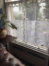"""Charming lovebirds vignette Valance panel cotton lace cafe curtain 23"""" per Metre"""