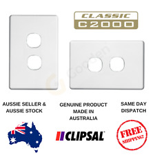 Cover Plate to suit Clipsal Classic 2 Gang Switch C2032VA / VH