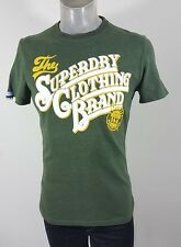 Superdry green casual t shirt medium fitted