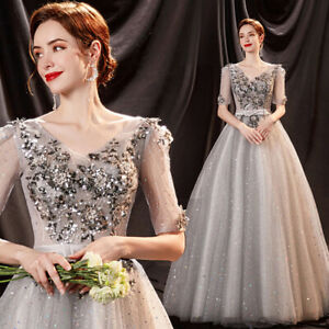 Noble Evening Formal Party Cocktail Ball Gown Prom Host  Acting Dress TS17811
