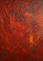 LARGE ABSTRACT EXPRESSIONIST VINTAGE OIL PAINTING