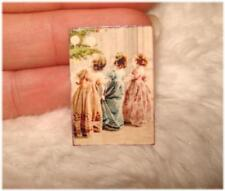 AUSVERKAUF * Miniaturen  Bild / Poster 1:12  * 3 Mädchen festlich gekleidet *