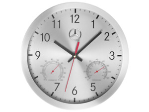 Genuine Mercedes Benz Aluminium Wall Clock B67870476