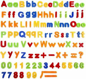 Colourful Magnetic Letters and Numbers 106 pcs Magnets