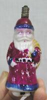 Vtg Christmas Light Bulb Milk Glass Santa Claus Japan 1940s