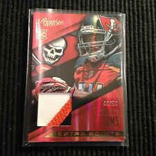 2014 PANINI PRESTIGE CHARLES SIMS *JERSEY RELIC PATCH* #49/50  3 CLRS BUCCANEERS
