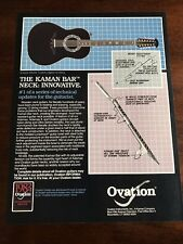 1983 VINTAGE 8.5X11 PRINT Ad OVATION GUITARS ACOUSTIC ELECTRIC LEGEND 12 STRING