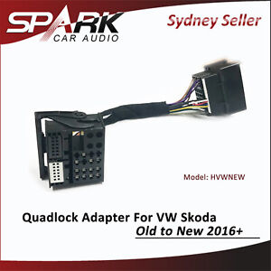 CT QUADLOCK ADAPTER HARNESS FOR VW SKODA OLD TO NEW 2016+ ADAPTOR HVWNEW