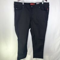 Tripp NYC Black T Back Skinny Short Stretch Jeans Gothic Goth Punk Size 22 Short