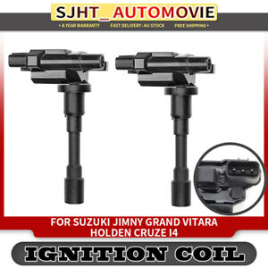2x Ignition Coils fit Suzuki Jimny Grand Vitara Carry Liana Ignis Holden Cruze