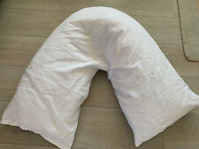 NEW Argos V Shaped Orthapedic Pillow With Pillowcase