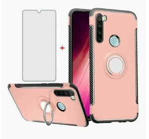 Phone Case for Xiaomi Redmi Note 8 with Tempered Glass Screen Protector Cover an