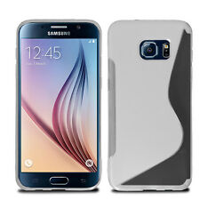 Ultra Slim Soft Wave Gel Case Soft Phone Cover For Samsung Galaxy S6 & Screen