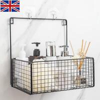 Nordic Hanging Wall Mounted Iron Storage Basket Toiletries Organizer for Kitchen