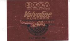 SCCA Dash Plaque 1990 Valvoline Runoffs Road Atlanta