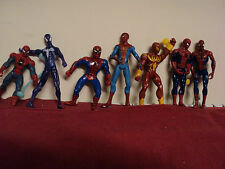 Spider-man Action  Figures (7) 4 inches in height used no box   lot 101