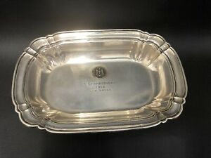 Scrap Sterling Silver Platter Chippendale by Wallace 6555  360 Gr or 11.5 Oz NR