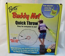 "BETTS BUDDY NET, QUICK THROW 4' CAST NET, 3/8"" MESH WITH EASY OPEN RING"