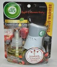 Air Wick Apple Cinnamon Medley Plug In Bonus Warmer Essential Oil & Refill