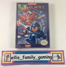 Mega Man 5 MegaMan V Original Nintendo NES Brand NEW Factory Sealed - Ships Fast