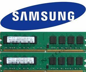 8GB SAMSUNG Micron (2 X 4GB) DDR2 RAM PC2-6400 800 MHz  Arbeitsspeicher nur AMD