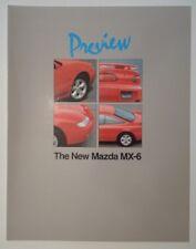 MAZDA MX-6 orig 1991 UK Mkt Glossy Sales Preview Brochure - 2.5i V6 24v