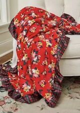 Matilda Jane All Wrapped Up Blanket Plush Ruffled Trim Red Floral NWT