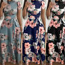 Women's Summer Boho Floral Long Maxi Evening Cocktail Party Beach Dress Sundress