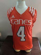 University of Miami Hurricanes adidas Orange #4 Practice Jersey Game Worn Medium