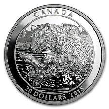 2015 Canada 1 oz Silver Grizzly The Catch - SKU #92182