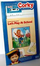 Playmates CORKY Let's Play At School Activity Book & Cassette Tape Set 1987 NRF
