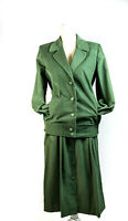 80s Corduroy Skirt Suit Sz 6 Vintage Retro Green Country Suburbans Fall Fashion