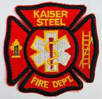Kaiser Steel Fire Department Fontana California CA Patch (C2)