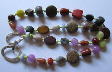 Rare - Magnifique collier sautoir Pierre Lang en pierres semi précieuses