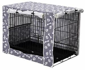 """Dog Crate Cover Durable Polyester Pet Kennel Cover Universal Fit for Wire 30"""""""