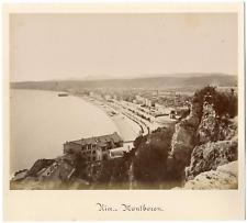France, Nice, Mont-Boron Vintage albumen print Tirage albuminé  20x25  187