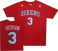 Philadelphia 76ers Sixers Adidas Allen Iverson Adidas Throwback Red Shirt