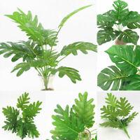 Artificial Green Grass Plants Turtle Leaves Bouquet Home Garden DIY Decoration