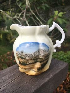 Charming Victorian Souvenir Jug Belle View vue Park Newport Wales Monmouthshire