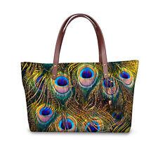 Cool Peacock Women's fashion Satchel Messenger Handbag Tote Shoulder Bag Purse
