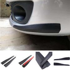 2x Carbon Fiber Bumper Guard Universal Protect Scratch Front Rear Corner Molding