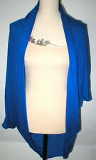 NWT Open Cardigan Jacket L Wrap New Alternative Apparel Blue Womens Linen Blend