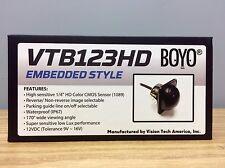 Boyo VTB123HD Flush Mount Rear View or Side Panel HD CMOS Camera