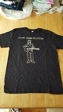 Johnny Cougar Mellencamp Guitar Man Stick Figure Large T Shirt Rockabilly