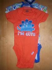 3 New Gerber Boy's Onesies, Baby Shower, Newborn, Dinosaur