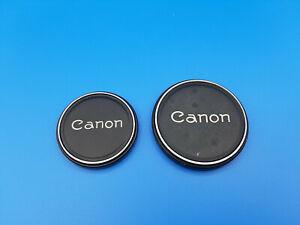 Vintage Canon Genuine Metal Front Lens Cap 48mm 58mm 2piece #11