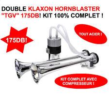 KLAXON 2 TROMPES TGV HORNBLASTER 175DB AVEC COMPRESSEUR HDJ F150 JEEP LAND KDJ