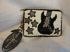 MARY FRANCES ROCK AND ROLL BEADED CHANGE PURSE WITH KEYCHAIN